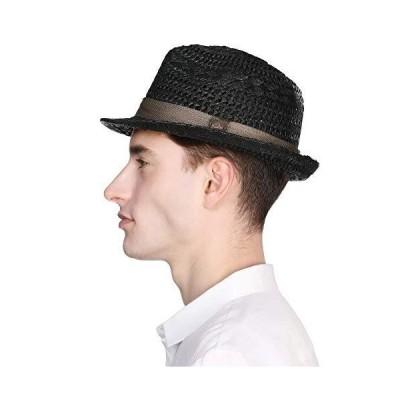 帽子 メンズ 麦わら帽子 大きいサイズ ハット むぎわら帽子 中折れ帽 ストローハット パナマハット 紳士用 中?
