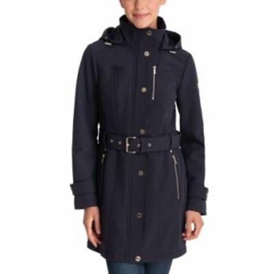 マイケルコース レディース コート アウター Hooded Belted Raincoat Navy