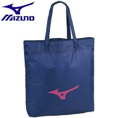 ◆◆送料無料 メール便発送 <ミズノ> MIZUNO トートバッグ 33JM8209 (87:ネイビー×ピンク)
