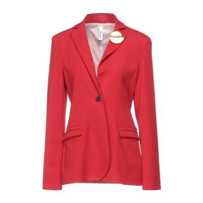 スーベニア SOUVENIR テーラードジャケット レッド L ポリエステル 63% / レーヨン 33% / ポリウレタン 4% テーラードジャケ