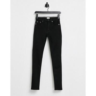 フレンチコネクション レディース デニムパンツ ボトムス French Connection Rebound skinny jeans in black
