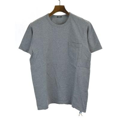 DENHAM デンハム クルーネックポケットTシャツ グレー M メンズ