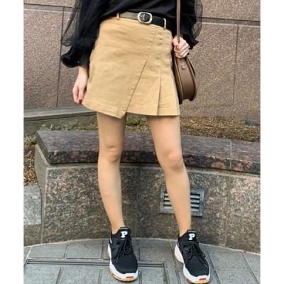 スカート 【ZOZOTOWN限定アイテム】ベルト付ラップデザインミニスカート