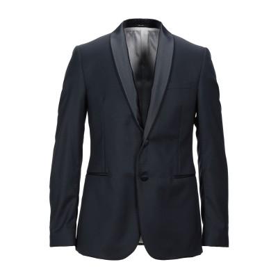 パオローニ PAOLONI テーラードジャケット ブラック 50 バージンウール 100% テーラードジャケット