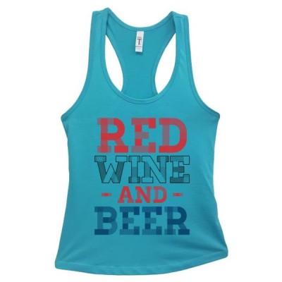 レディース 衣類 トップス Women's Basic Tank Top Red Wine and Beer America - 4th Of July Small Sky Blue ブラウス&シャツ