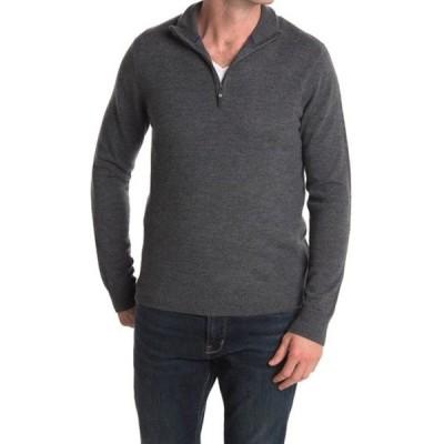 クイン メンズ ニット&セーター アウター Quarter Zip Pullover Knit Sweater LT GREY