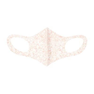 100周年記念 3Dマスク Sサイズ ホワイト・線花 S