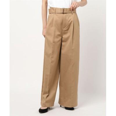 Traditional Weatherwear / WAIST BELT WIDE PANTS SIDE POCKET WOMEN パンツ > チノパンツ
