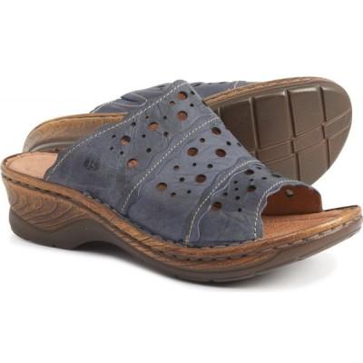 ジョセフセイベル Josef Seibel レディース サンダル・ミュール ウェッジソール シューズ・靴 catalonia 43 wedge sandals - leather Blue Capri