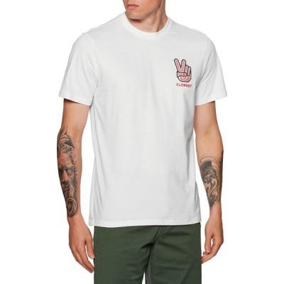 エレメント Element メンズ Tシャツ トップス Tredco Short Sleeve T-Shirt Optic White