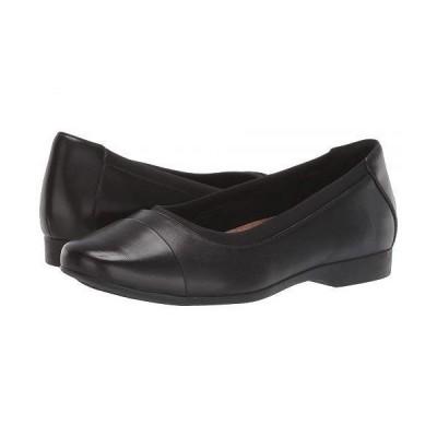 Clarks クラークス レディース 女性用 シューズ 靴 フラット Un Darcey Cap - Black Leather
