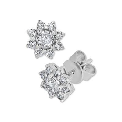 メイシーズ Macy's レディース イヤリング・ピアス ジュエリー・アクセサリー Diamond Flower Stud Earrings (3/4 ct. t.w.) in 14k White Gold White Gold