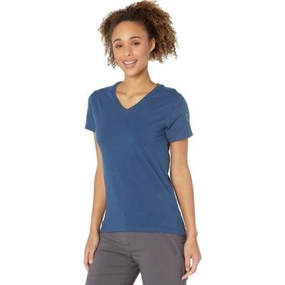 ダブテイル Dovetail Workwear レディース Tシャツ Vネック トップス Solid V-Neck Tee Dovetail Blue