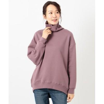 L size ONWARD(大きいサイズ) / 【オーガニックコットン】オーガビッツ両面起毛オフタートル WOMEN トップス > Tシャツ/カットソー