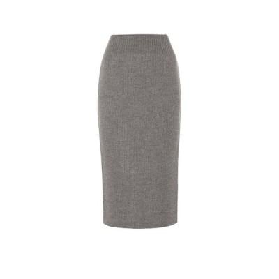 ドリス ヴァン ノッテン Dries Van Noten レディース ひざ丈スカート タイトスカート スカート Wool-blend pencil skirt Grey