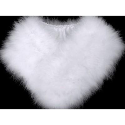 着物美人 送料無料 ショール 振袖ショール 成人式ショール ファー フェザー 羽毛 成人式 振袖用 【 白 マラボー ストール 】D367003-25