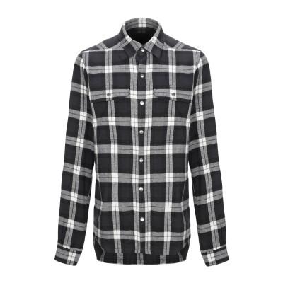 リック オウエンス RICK OWENS シャツ ブラック 48 コットン 100% シャツ