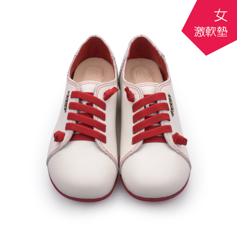 【A.MOUR 經典手工鞋】頂級牛革饅頭鞋 - 紅白(2818)