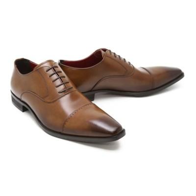 ビジネスシューズ 本革 ストレートチップ キャップトゥ ドレス ブラウン 革靴 本革 クインクラシコ ドレスシューズ qc1100-abr ブラウン(茶色) キャップトゥ