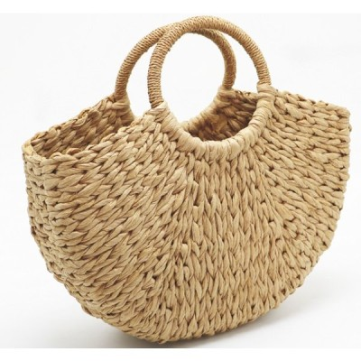 レディース かごバッグ 手編み ハンドバッグ  バスケット 軽い 春夏 サークル 持ち手 サークルカゴバッグ