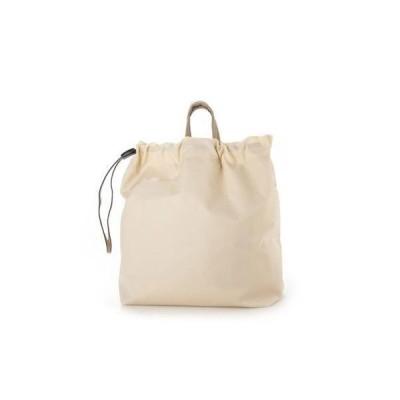 クーコ COOCO トートバッグ レディース パイソン ショルダーバッグ 巾着 ナイロン A4 通勤 通学 (ホワイト)