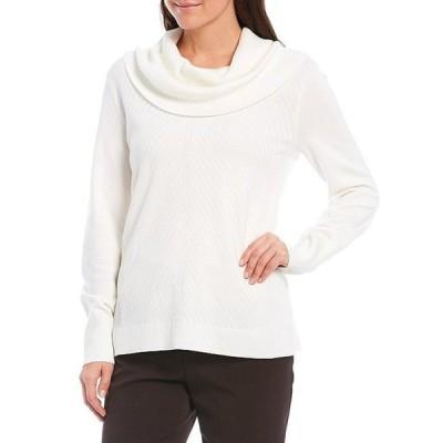 インベストメンツ レディース パーカー・スウェット アウター Petite Size Long Sleeve Cowl Neck Sweater