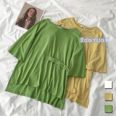 Tシャツ 夏 レディース 半袖Tシャツ サマーTシャツ 無地Tシャツ ユニックデザイン 夏Tシャツ 不規則裾 クルーネック お洒落