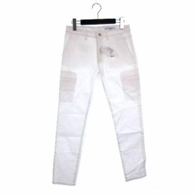 【中古】未使用品 アンタイトル UNTITLED スキニー パンツ ストレッチ 2 ホワイト 201124O レディース