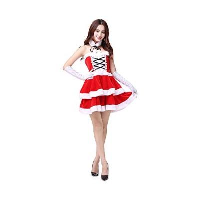 starvcos クリスマス 衣装 サンタクロース コスプレ 大人用 レディース ワンピース ミニスカ かわいい セクシ・・・