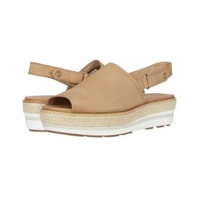 Timberland ティンバーランド レディース 女性用 シューズ 靴 ヒール Emerson Point Sandal - Light Brown Full Grain Leather
