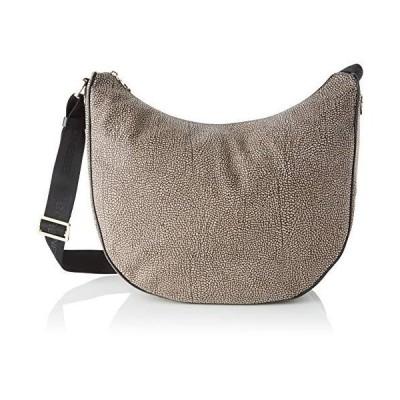 Borbonese Women's 963783695 Cross-Body Bag Grey Grey (GREY M33) 並行輸入品