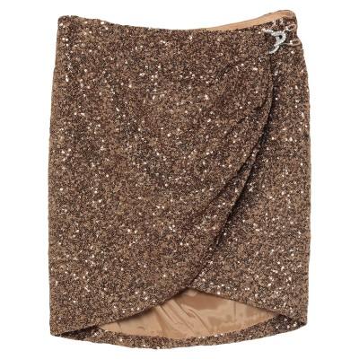 AMEN ミニスカート ブロンズ 42 ナイロン 100% ミニスカート