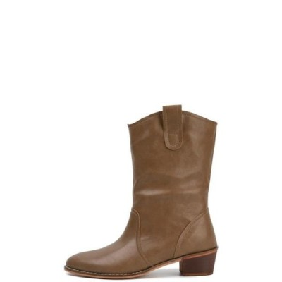 somedayif レディース ブーツ Matte western ankle boots