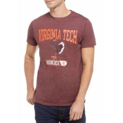 チャンピオン メンズ シャツ トップス NCAA Virginia Tech Hokies Graphic Heathered T-Shirt MAROON