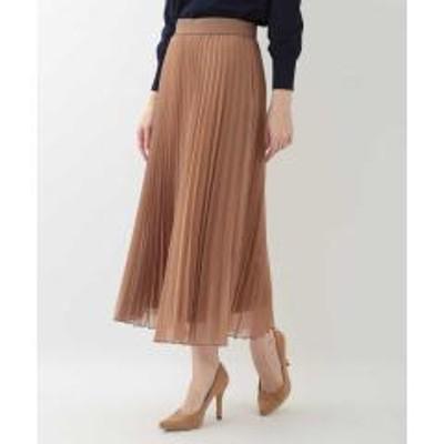 OFUON(オフオン)【洗える】オーガンジープリーツスカート【お取り寄せ商品】
