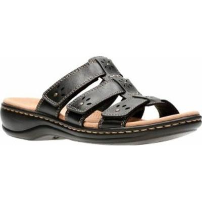 クラークス レディース サンダル シューズ Women's Clarks Leisa Spring Strappy Sandal Black Full Grain Leather