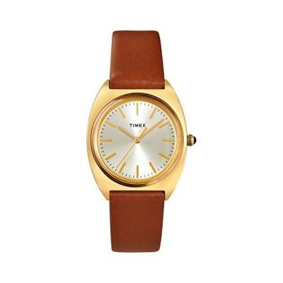 Timex レディース ミラノ 33mm 腕時計 バーガンディ/ゴールド調。
