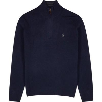 ラルフ ローレン Polo Ralph Lauren メンズ ニット・セーター トップス Navy Wool-Blend Half-Zip Jumper Navy