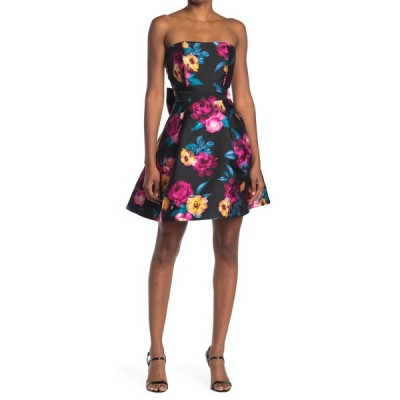 ベッツィジョンソン レディース ワンピース トップス Floral Strapless Fit & Flare Dress FB1
