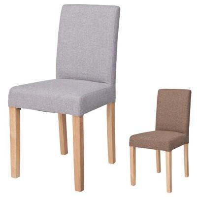 ダイニングチェア 椅子 天然木脚 座面高48cm ( ダイニングチェアー チェア チェアー イス ファブリック 布張り )