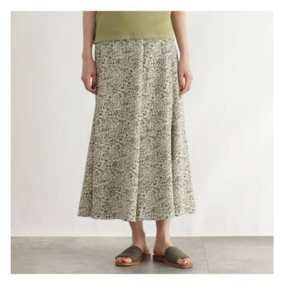 【オゾック/OZOC】 [洗える]プチフラワーマーメイドロングスカート