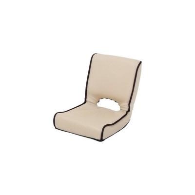 ds-2257802 低反発 座椅子/パーソナルチェア 【アイボリー】 幅40cm 折りたたみ 前倒れギア 『ショコラ メッシュ』 【4個セット】【代引不可】