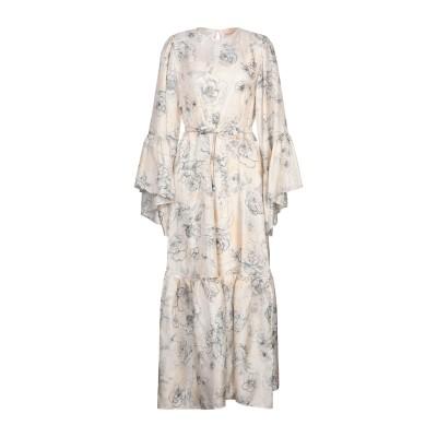 エリカ カヴァリーニ ERIKA CAVALLINI ロングワンピース&ドレス ベージュ 38 シルク 100% ロングワンピース&ドレス