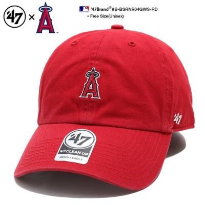 ロサンゼルス エンゼルス フォーティーセブンブランド 47BRAND ローキャップ ボールキャップ 帽子 CAP MLB 公式 メジャーリーグ 大リーグ 刺繍 アメカジ 赤