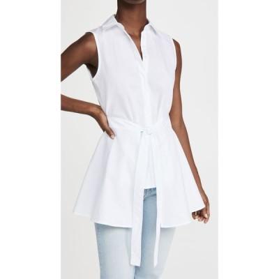 ロゼッタゲティー Rosetta Getty レディース ノースリーブ トップス Sleeveless Apron Wrap Shirt White