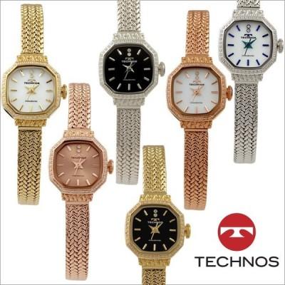 テクノス T9894 オールステンレスモデル 三針 パヴェベゼル 腕時計 レディース TECHNOS 正規品 アウトレット