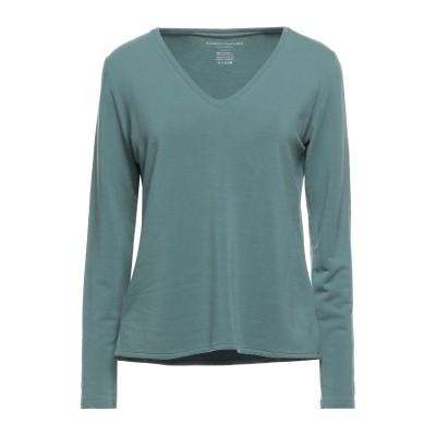 マジェスティック MAJESTIC FILATURES T シャツ エメラルドグリーン 1 レーヨン 96% / ポリウレタン 4% T シャツ