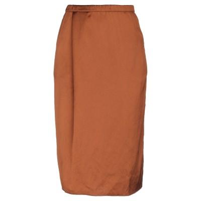ヒューマノイド HUMANOID 7分丈スカート キャメル S ポリエステル 100% 7分丈スカート