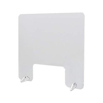 オリエンタライズ 飛沫防止アクリルパーテーション Mサイズ (窓ありタイプ/ スタンド2個付き) 飛沫防止 ウイル