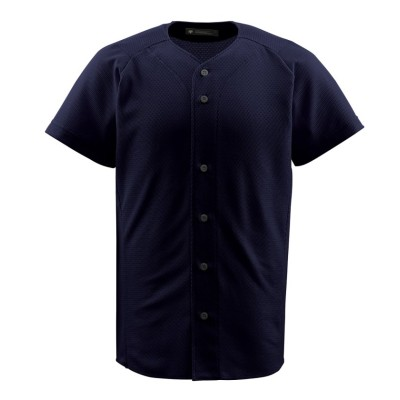 (DESCENTE/デサント)【ジュニア】【野球】フルオープンシャツ/メンズ ブラック系